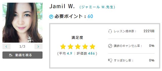 Jamil W.先生(ジャミール W.先生)